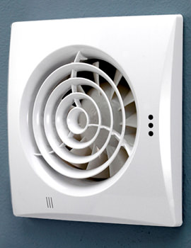 HIB Hush White Wall Mounted Fan With Timer And Humidity Sensor