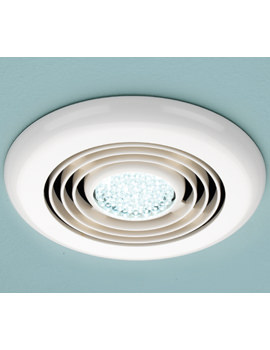 HIB Cyclone Wet Room Inline Extractor Fan With Built-In Cool White LED