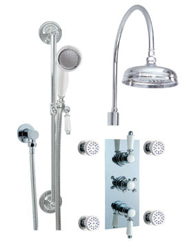 Phoenix Tripple Control Thermostatic Shower Valve Pack With Body Jets