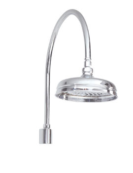 Phoenix HF Series Traditional Swan Neck Shower Arm And Shower Head
