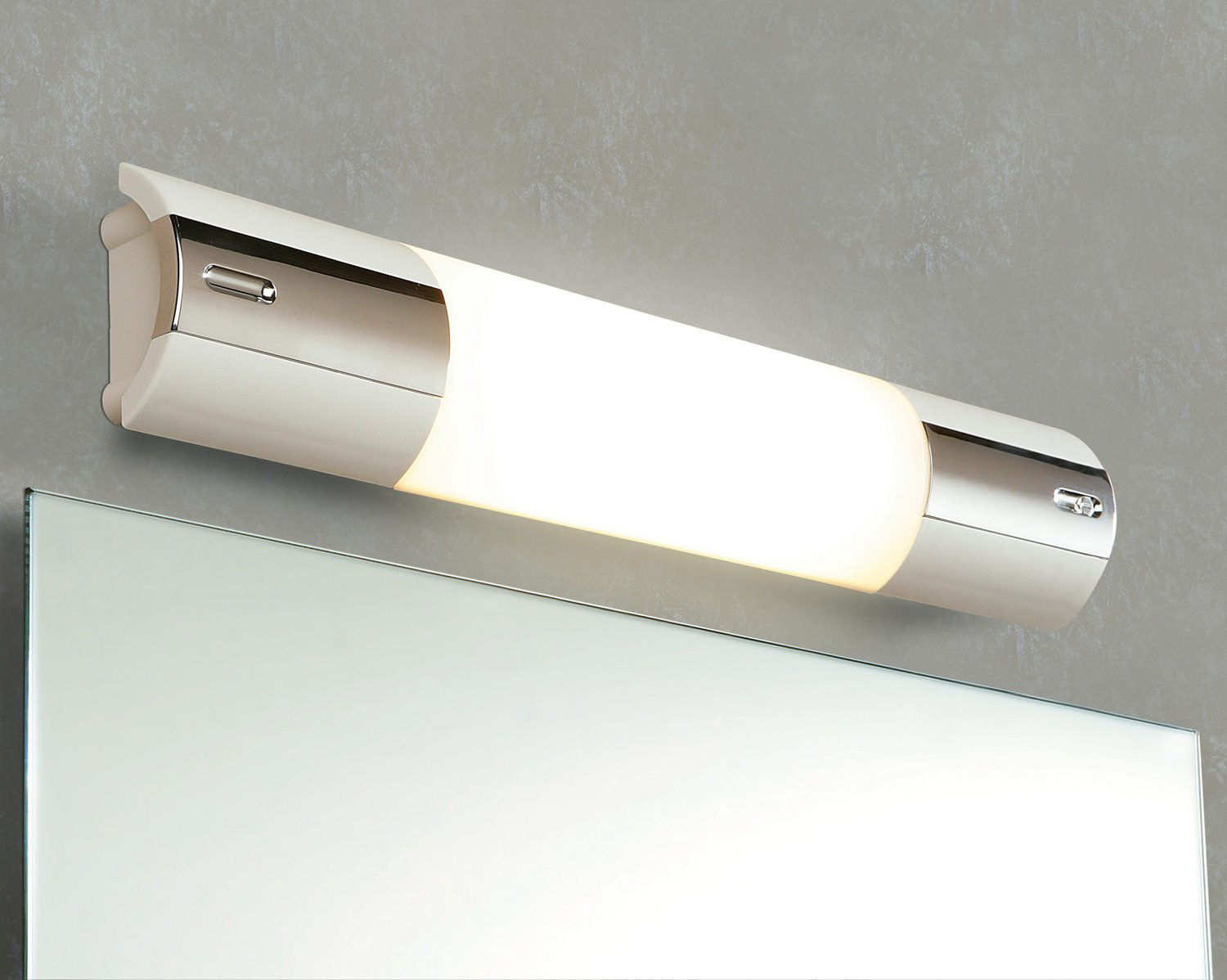 White And Chrome Bathroom Shaver Light With: HIB Shavolite Mirror Light With Shaver Socket