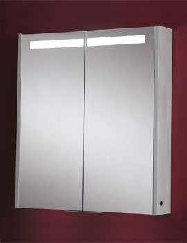 Phoenix Mercury Double Door Aluminium Mirror Cabinet 630 x 700mm