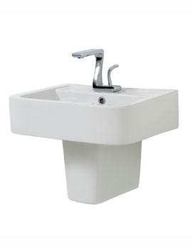 Phoenix MacQ Basin With Semi Pedestal 570mm