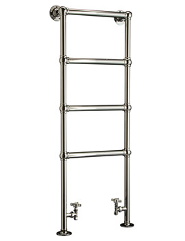 DQ Heating Methwold Floor Mounted Heated Towel Rail 484 x 1261mm