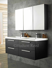 Hudson Reed Quartet Black Wood Finish Furniture Pack