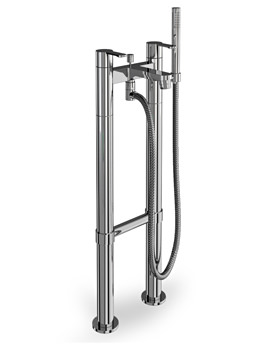 Cleargreen Crystal Bath Shower Mixer With Floor Standing Legs