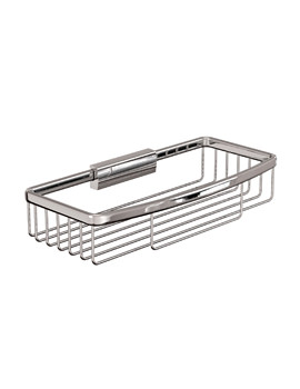 Cleargreen Large Rectangular Wire Basket Chrome 26cm x 12cm x 5cm