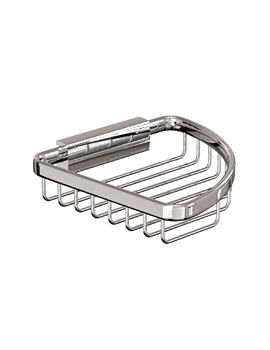 Cleargreen Small Corner Wire Basket 15cm x 15cm x 3cm Chrome