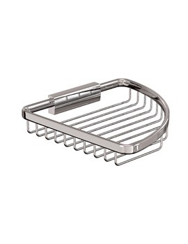Cleargreen Large Corner Wire Basket Chrome 19cm x 19cm x 3cm