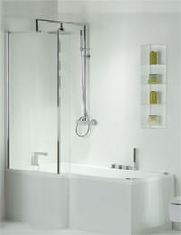 Phoenix Pensato Whirlpool System 1 Shower Bath 1700 x 850mm With Panel