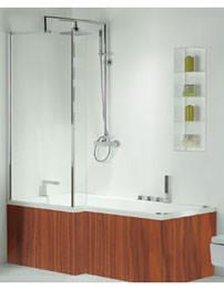 Phoenix Pensato Whirlpool System 1 Marango Finish Shower Bath 1700 x 850mm