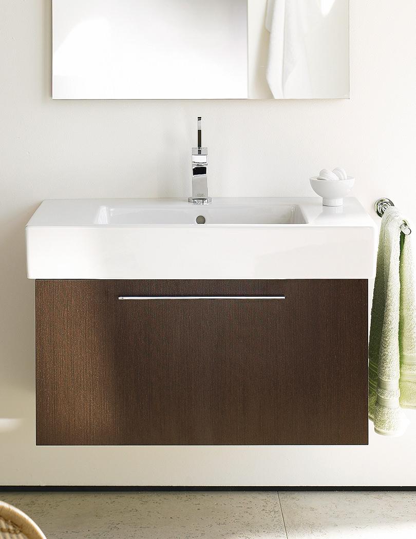 duravit x large chestnut dark 550mm vanity unit with 600mm. Black Bedroom Furniture Sets. Home Design Ideas