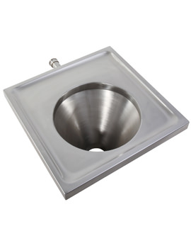 Twyford Stainless Steel Disposal Hopper Wall Mounted - Back Inlet