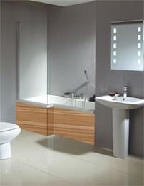 Phoenix Qube Whirlpool And Airpool Shower Bath With Marango Panel 1700mm