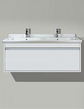 Duravit X-Large White Matt 1200 x 468mm Vanity Unit With 1300mm Basin
