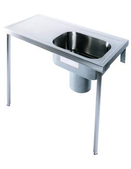Twyford Stainless Steel Plaster Sink And Worktop 1200 x 600mm