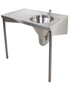 Twyford SS Disposal Hopper And Worktop 1000 x 600mm Top Inlet