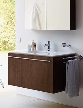 Duravit X-Large Chestnut Dark 800 x 522mm Vanity Unit With 830mm Basin