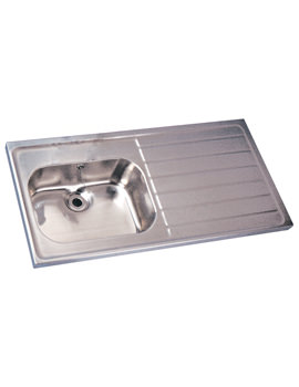 Twyford SS Single Sink And Single Right Hand Drainer 1200 x 600mm