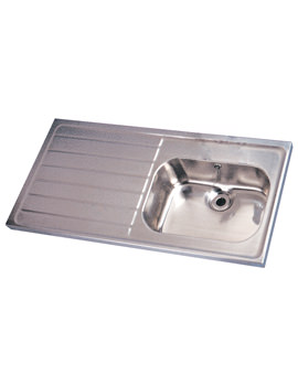 Twyford SS Single Sink And Single Left Hand Drainer 1200 x 600mm