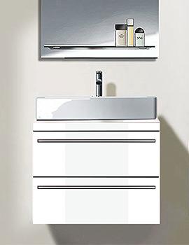 Duravit X-Large White Matt 1000mm 2 Drawer Vanity Unit