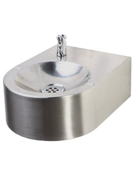 Twyford Stainless Steel Wall Hung Drinking Fountain 257 x 350mm