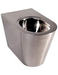 Twyford Stainless Steel Back-To-Wall Floor Mounted WC Pan 500mm