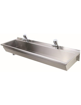 Twyford Stainless Steel 3 Person Wash Trough 1800 x 370mm