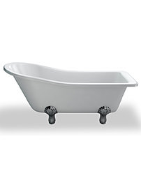 Clearwater 169 x 73cm York Slipper Traditional Bath With Classic Feet