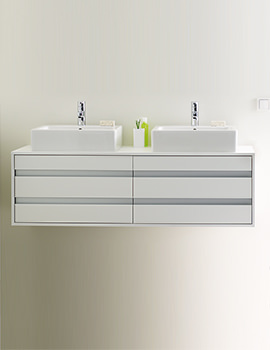Duravit Ketho 1400 x 550mm Wall Mounted 4 Drawer Unit For Vanity Basin