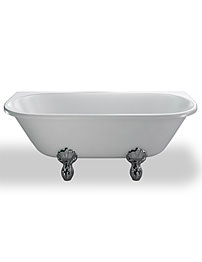 Clearwater Avantgarde Back To Wall Traditional Bath 170x75cm With Feet
