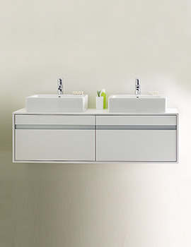 Duravit Ketho 550 x 1400mm Wall Hung Vanity Unit With 2 Drawers