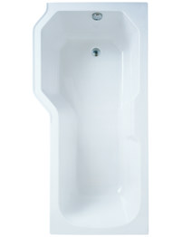 Adamsez Retro 1700 x 850mm Left Hand Shower Bath