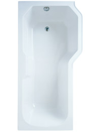 Adamsez Retro 1700 x 850mm Right Hand Shower Bath