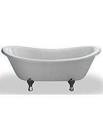 Clearwater 1640 x 700mm Bateau Traditional Bath With Space Age Feet
