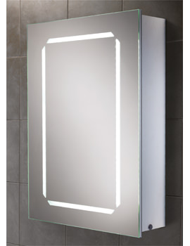 HIB Cosmic Steam Free LED Illuminated Aluminium Cabinet