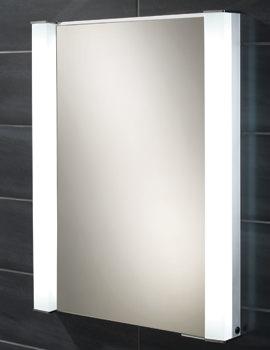 HIB Parity Single Door Recessed Aluminium Cabinet 600 x 760mm