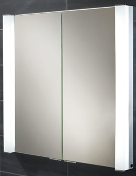 HIB Laser Double Door Recessed Aluminium Cabinet 800 x 760mm