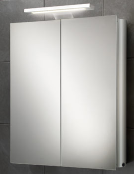 HIB Atomic LED Illuminated Double Door Aluminium Cabinet