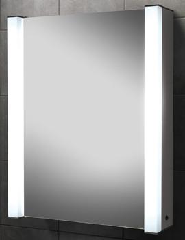 HIB Velocity Single Door Illuminated Aluminium Cabinet 605 x 750mm