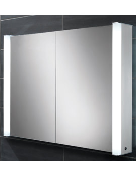 HIB Vector Double Door Illuminated Aluminium Cabinet 1000 x 760mm