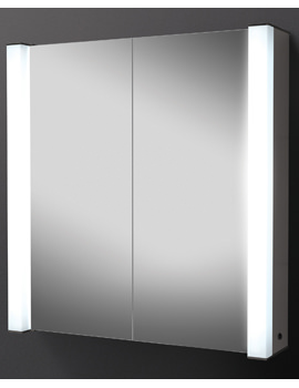 HIB Photec Double Door Illuminated Aluminium Cabinet 725 x 750mm
