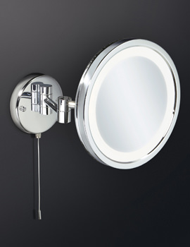 HIB Halo Multi-Pivoted LED Back-Lit Magnifying Mirror With Adjustable Arm