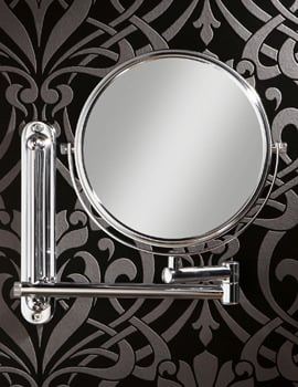 HIB Tila Double Arm Magnifying Bathroom Mirror