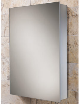 HIB Kore Slim Line Aluminium Bathroom Cabinet 400 x 600mm