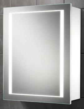 HIB Austin Single Door LED Illuminated Bathroom Cabinet 500 x 630mm