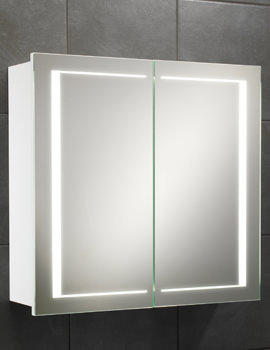 HIB Colorado Double Door LED Illuminated Bathroom Cabinet 600 x 630mm