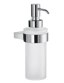 Smedbo Air Frosted Glass Soap Dispenser With Holder Chrome