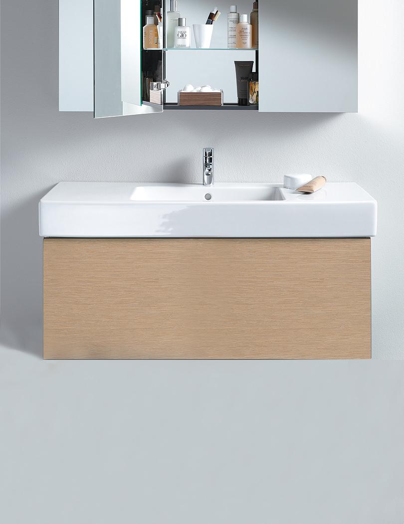 Duravit delos 470 x 1000mm vanity unit with 1050mm basin - Duravit bathroom furniture uk ...