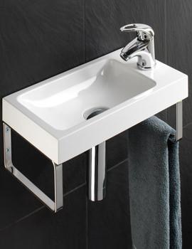 HIB Solo Delta 400mm Wall Hung Washbasin
